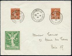 FRANKREICH 1932 (6.8.) Seltener SSt.: PARIS/24° KONGRESO-ESPERANTO 3x + Esperanto-Kongreß-Vignette (Engel, Montmatre, Ei - Esperanto