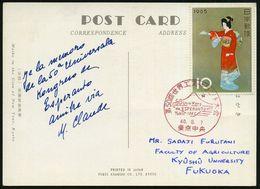 JAPAN 1965 (7.8.) Roter SSt.: TOKYO/50 Univ Kong/de ESPERANTO/Tokio (Vulkan Fudschiyama) Inl.-Kt. - Gartenbau-Ausstellun - Esperanto