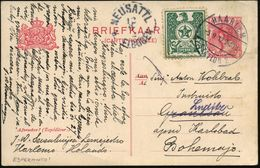 NIEDERLANDE 1912 (5.9.) 1K-Brücke: HAARLEM/STATION 2 Auf Esperanto-Vign. (grüner Adler) Frühe Ausl.-Karte, Kompl. Text V - Esperanto