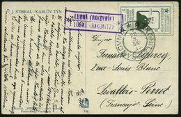 "ÖSTERREICH 1911 (22.3.) Esperanto-Spendenmke 1 H. ""Zamenhof"" Grün Entwertet Mit Viol.Ra2: LUBNA (RAKOVNIK).. (= PSt.II)  - Esperanto"