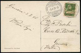 SCHWEIZ 1925 (3.8.) Seltener SSt.: GENEVE/XVII. UNIV. ESPERANTO-KONGRESO (Stern, Schweizerkreuz) 2x Klar Gest. Inl.-Beda - Esperanto