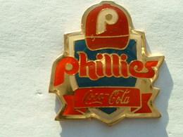 Pin's COCA COLA - BASEBALL - PHILLIES - Coca-Cola