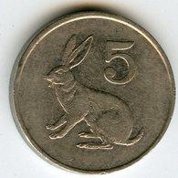 Zimbabwe 5 Cents 1991 KM 2 - Zimbabwe
