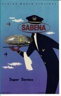 SABENA - Bagage Etiket: Super Service - Étiquettes à Bagages