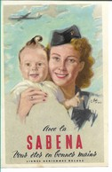 SABENA - Bagage Etiket: Vous Etes En Bonnes Mains - Étiquettes à Bagages