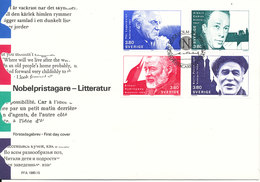 Sweden FDC 27-11-1990 Nobel Prizewinners Literature Complete Set Of 4 - FDC