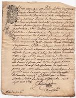 Acte Litige Jugement Manuscrit Vandebergue De Villebouré Cachet Généralité D'Orléans Dix Deniers 1716 - Cachets Généralité