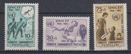 Turkey 1961 Unicef 3v ** Mnh (41143) - 1921-... Republiek