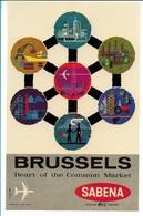 SABENA - Bagage Etiket: Brussels - Étiquettes à Bagages