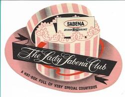 SABENA - Bagage Etiket: The Lady Sabena Club - Étiquettes à Bagages
