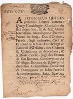 Prévoté Acte Litige Jugement En Partie Manuscrit Cachet Généralité D'Orléans Seize Deniers 1738 - Cachets Généralité