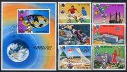 Y85 DPRK (NORTH KOREA) 1976 1523-1528 + Bl.28 Olympic Games 1976, Union-Apollo, World Cup-74. 100 Years UPU - Estate 1976: Montreal