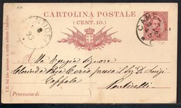 ITALY ITALIA ITALIEN 1893. POSTCARD CARTOLINA POSTALE, CAMPOBASSO PONTICELLI (FOLDED) - Italia