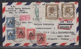 Kolumbien LP-Brief Mit MiF U.a. 523 Mit 5 Scadtca-Marken 1951 Nach Deutschland - Kolumbien