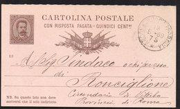 ITALY ITALIA ITALIEN 1889. POSTCARD CARTOLINA POSTALE, FERROVIA ANCONA VITERBO - Italia