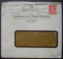 Fougères (Ille Et Vilaine) 1932 Établissements Brun Buisson  Manufacture De Formes Pour Chaussures - Marcofilia (sobres)