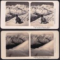 RARE ! 2 X CARTE STEREOSCOPIQUE OESTLICHER CENTRAL HIMALAYA - PANORAMA - SIKHIM - EDIT. STEGLITZ BERLIN 1906 - Photos Stéréoscopiques