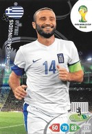 CARTE PANINI ADRENALYN COUPE DU MONDE FIFA BRESIL 2014 GRECE DIMITRIS SALPINGIDIS - Trading Cards