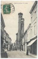 32 - L'Isle-Jourdain - Animation Et Magagasins Et L'Eglise - Années 1910s - Other Municipalities