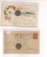 2684) Campania CAPRI NAPOLI Gruss LITHO 1899 Viaggiata VALVERDE TONDORIQUADRATO - Saluti Da.../ Gruss Aus...