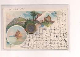 2685) Campania CAPRI NAPOLI Gruss LITHO 1899 Viaggiata IN BUSTA - Saluti Da.../ Gruss Aus...