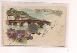 2688) Veneto VERONA Gruss LITHO 1900 Viaggiata - Saluti Da.../ Gruss Aus...