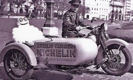 Moto Harley Davidson Avec Side-car Pour La Marque Pneus 'Michelin'  - 15x10 PHOTO - Motos