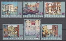 RUMÄNIEN - ROMANIA - 1972 UNESCO Rettet Venedig Mi.3053-58 Postfr.(22556 - Romania