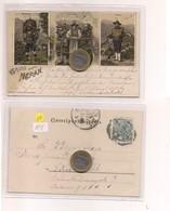 2692) Trentino Alto Adige MERANO BOLZANO Gruss LITHO 1901 Viaggiata ANNULLO - Saluti Da.../ Gruss Aus...