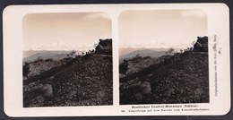 RARE  CARTE STEREOSCOPIQUE OESTLICHER CENTRAL HIMALAYA - SIKHIM Mountaineering - Sherpa Carriers - STEGLITZ BERLIN 1906 - Photos Stéréoscopiques