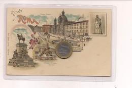 2694) Lazio ROMA Gruss LITHO Non Viaggiata Fine '800 - Saluti Da.../ Gruss Aus...