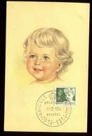 Belgique - Carte Maximum 1954 - Enfant  - N14 - Maximum Cards