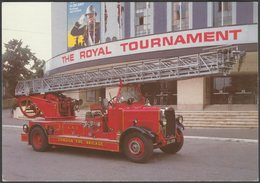 1937 Leyland Open Turntable Ladder Pump, C.1980s - FSNBF Postcard - Trucks, Vans &  Lorries
