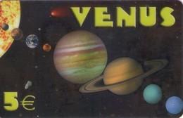 TARJETA TELEFONICA DE ESPAÑA, (PREPAGO). VENUS, 5E. EAR-0007. (702) - Espacio