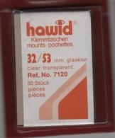 Paquet De 50 Pochettes Transparentes Hawid Simple Soudure Format 32 X 53  à  - 50% - Bandes Cristal