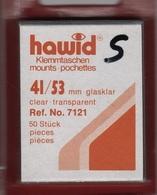 Paquet De 50 Pochettes Transparentes Hawid Simple Soudure Format 41 X 53  à  - 50% - Bandes Cristal