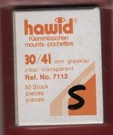 Paquet De 50 Pochettes Transparentes Hawid Simple Soudure Format 30 X 41  à  - 50% - Bandes Cristal