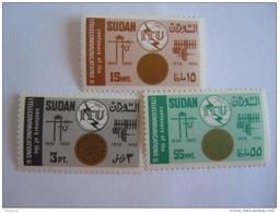 Soedan Soudan Sudan 1965 Centenaire De L'Union Internationale Des Télécommunications Yv 174-176 MNH ** - Soudan (1954-...)