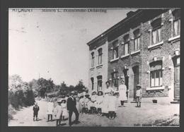 Milmort - Maison L. Bonhomme-Dehareng - Photo De CPA Sur Papier Photo - Portrait De Famille - Herstal