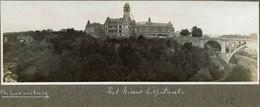 Luxembourg Hopital En 1912 Photo Panoramique Sur Carton 17cm X 6cm - Luxemburg - Town