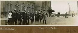 Luxembourg Gare En 1912 Photo Panoramique Sur Carton 17cm X 6cm - Luxemburg - Town