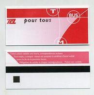 Ticket De Transport (bus, Tram Ou Métro) 1 Voyage Lyon 69 Rhône - TCL Pour Tous. Lire Description - Bus