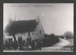 Haren / Milmort - Auberge B. Jacob - Photo De CPA Sur Papier Photo - Café - Animation - Herstal