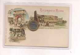 2697) Lazio ROMA Gruss LITHO Non Viaggiata Fine '800 - Saluti Da.../ Gruss Aus...