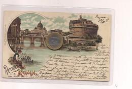 2698) Lazio ROMA Gruss LITHO 1899 Viaggiata - Saluti Da.../ Gruss Aus...