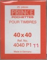 Paquet De 25 Pochettes Transparentes Prince Simple Soudure Format 40 X 40  à  - 50% - Bandes Cristal