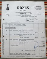 94 CHARENTON   ROZES PORT  Portugal PORTO MADERE - Invoices