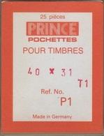 Paquet De 25 Pochettes Transparentes Prince Simple Soudure Format 40 X 31  à  - 50% - Bandes Cristal