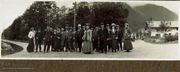 Chamonix En 1912 Photo Panoramique Sur Carton 17cm X 6cm - France