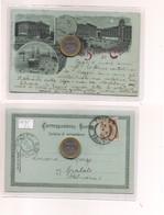 2699) Friuli Venezia Giulia TRIESTE Gruss LITHO 1898 Viaggiata X Spalato ANNULLO - Saluti Da.../ Gruss Aus...